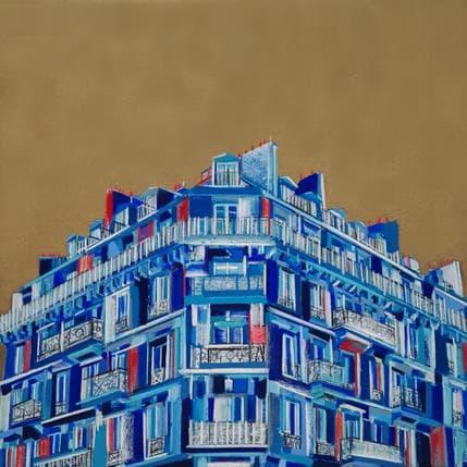Olivier Anicet La ville ne dort jamais 100 x 100 cm