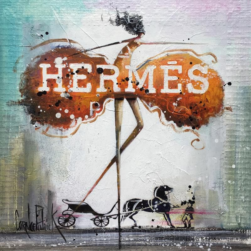 SHE WAS DRESSED IN HERMES DRESS