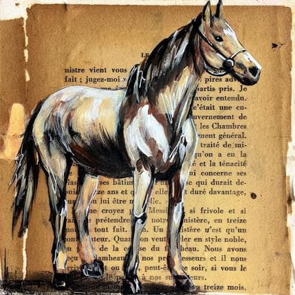 Alice Locoge A cheval 13 x 13 cm