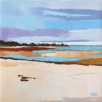Françoise Papail Un matin... la plage 25 x 25 cm
