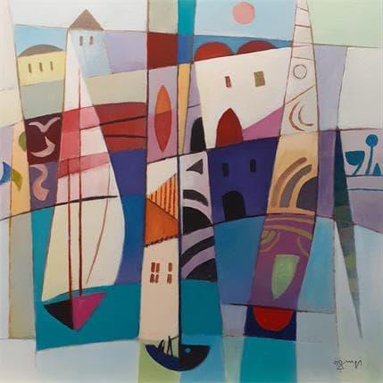 Roger Burgi LES GRANDES VOILES 80 x 80 cm