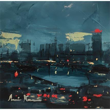 Amine Karoun Blue Atmosphere 13 x 13 cm