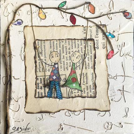Sabine Bourdet L'amour en l'air 13 x 13 cm
