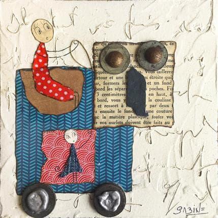 Sabine Bourdet Les belles et la bête à roulettes 13 x 13 cm