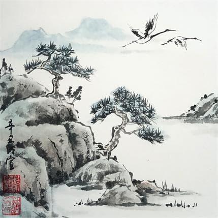 Mingxuan Du Crane's sing through the sky 13 x 13 cm