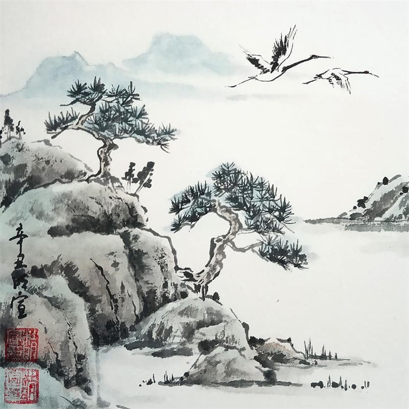 Crane's sing through the sky