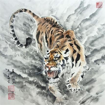 Mingxuan Du Burning eyes 36 x 36 cm