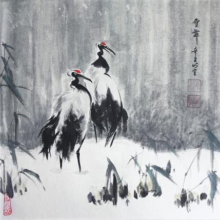Mingxuan Du Dance in the snow 36 x 36 cm