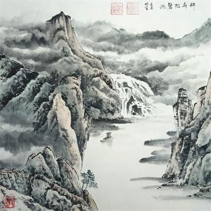 Du Mingxuan Journey up the river 36 x 36 cm