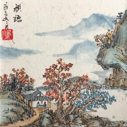 HuanHuan YU Autumn scenery 13 x 13 cm