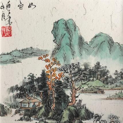Yu Huan Huan Colorful landscape 13 x 13 cm
