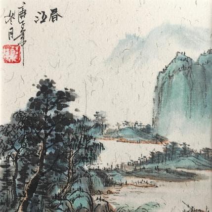 HuanHuan YU River of spring 13 x 13 cm