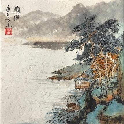 HuanHuan YU Listening of the lake 19 x 19 cm