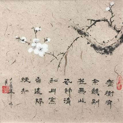 HuanHuan YU Old branch new flower 19 x 19 cm