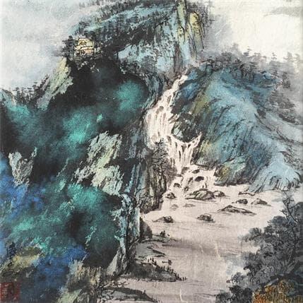 Yu Huan Huan Blue view 25 x 25 cm