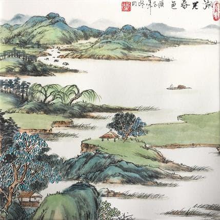 HuanHuan YU Spring lake 25 x 25 cm