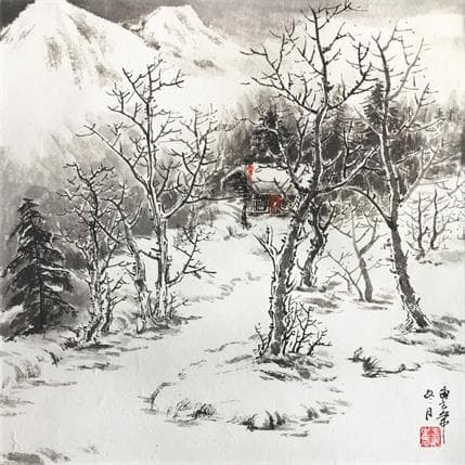 HuanHuan YU Family of snow mountains 36 x 36 cm