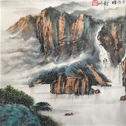 HuanHuan YU Fishing spirit 36 x 36 cm