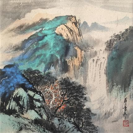 HuanHuan YU High mountains and water 36 x 36 cm