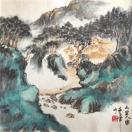 HuanHuan YU Living in mountains 36 x 36 cm