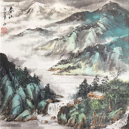 HuanHuan YU Spring spirit 36 x 36 cm