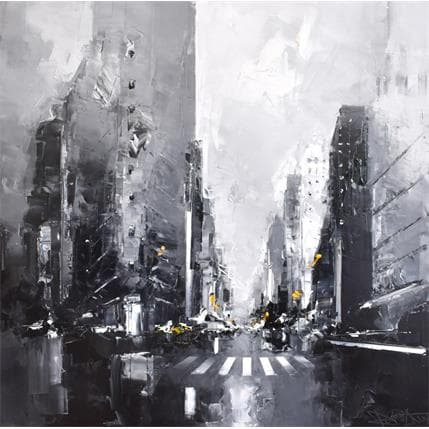 Daniel Castan Black and white Flatiron 80 x 80 cm