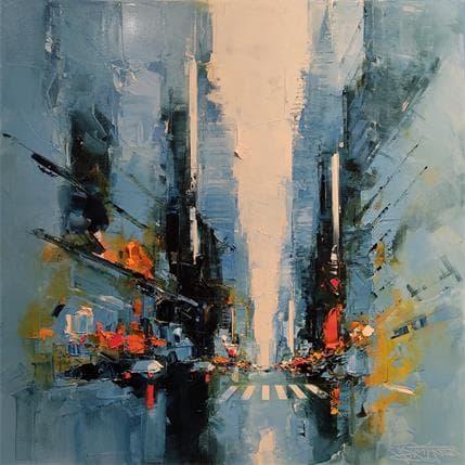 Daniel Castan Blue Street 80 x 80 cm