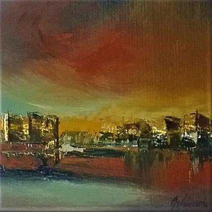Beata Belanszky Stormy city 13 x 13 cm