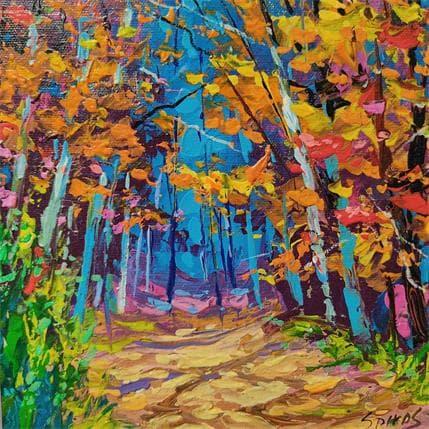Dmitry Spiros Autumn path 19 x 19 cm