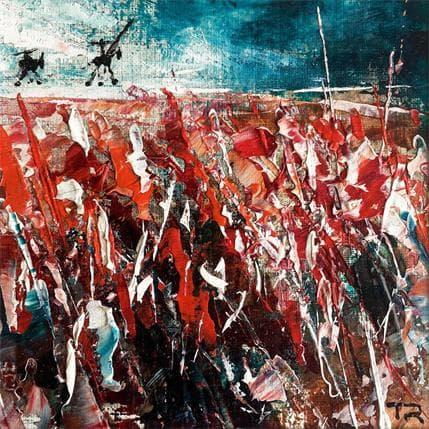 Pierre Reymond Don quixote on the line 13 x 13 cm