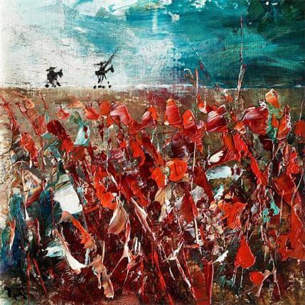 Pierre Reymond Don Quichotte sur la ligne 19 x 19 cm