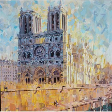 Rudyard Heaton Notre Dame Jaune 100 x 100 cm