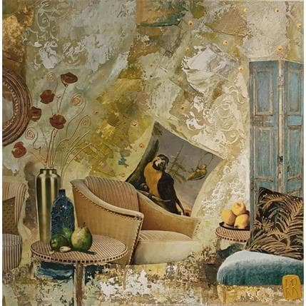 Karine Romanelli Mon coin de paradis 36 x 36 cm