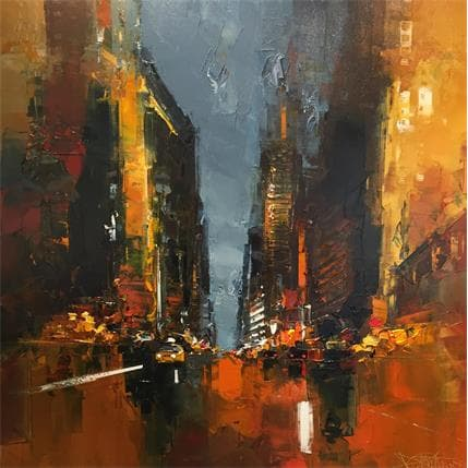 Daniel Castan Taxi by night 80 x 80 cm