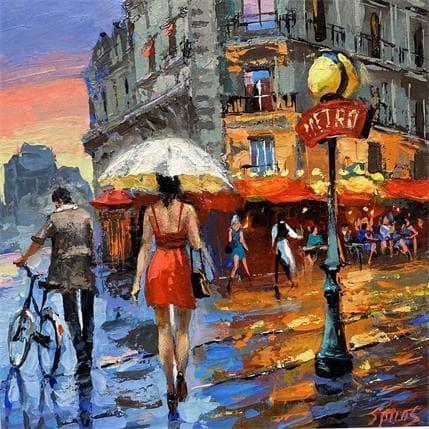 Dmitry Spiros Rainy warm evening 36 x 36 cm