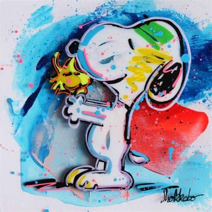 SHOKKOBO Snoopy and Woodstock 222a 13 x 13 cm