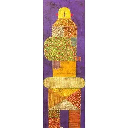 Gustavo Ortiz Yellow Man 40 x 120 cm