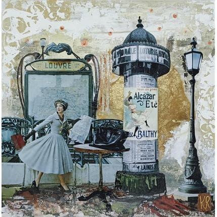 Karine Romanelli La fille du Louvre 25 x 25 cm