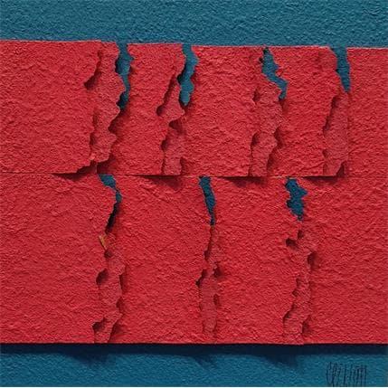 Gérard Clisson SEPT ECAILLES BLEUES 19 x 19 cm